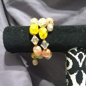 Vintage style bead wrap bracelet